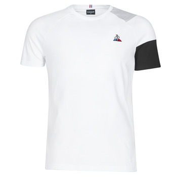 material Men short-sleeved t-shirts Le Coq Sportif ESS Tee SS N°10 M Black / Grey