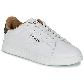 Shoes Children Low top trainers Kappa TCHOURI LACE White / Kaki