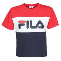 material Women short-sleeved t-shirts Fila ALLISON Marine / Red / White