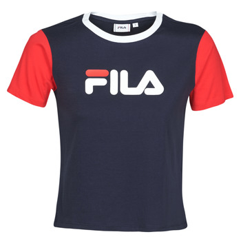 material Women short-sleeved t-shirts Fila Salome Marine / Red