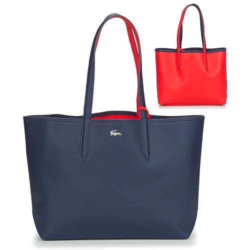 Bags Women Shopper bags Lacoste ANNA Marine / Red
