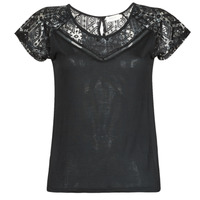material Women short-sleeved t-shirts Deeluxe CLEA Black
