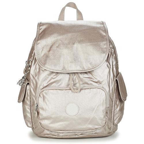 Bags Women Rucksacks Kipling CITY PACK S Gold