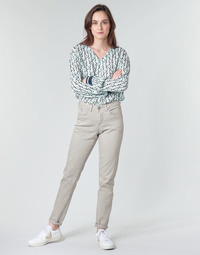 material Women 5-pocket trousers Cream ANNIE Grey