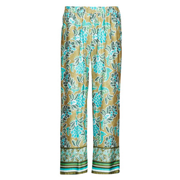 material Women 5-pocket trousers Cream BAHIA Green