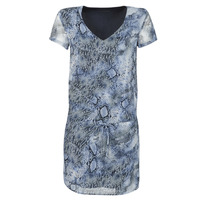 material Women Short Dresses Ikks BQ30025-45 Blue