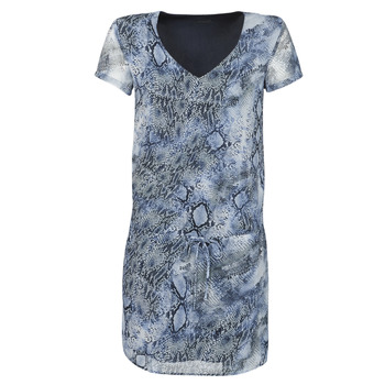 material Women Short Dresses Ikks BQ30025-44 Blue