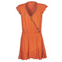 material Women Short Dresses Ikks BQ30155-75 Orange