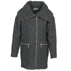 material Women coats Noisy May ROUND Grey / Black