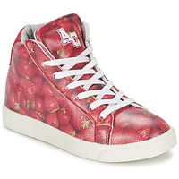 Shoes Girl High top trainers American College RED Red