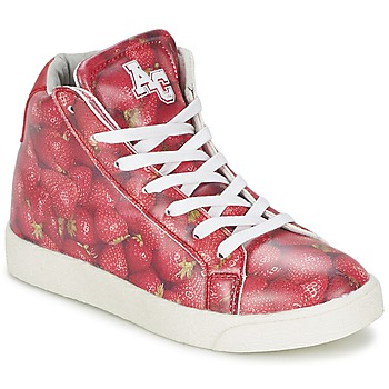 High top trainers American College RED