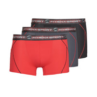 Underwear Men Boxer shorts Athena TRAINING PACK X3 Black / Red / Grey