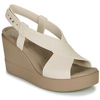 Shoes Women Sandals Crocs CROCS BROOKLYN HIGH WEDGE W Beige