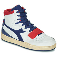 Shoes Men High top trainers Diadora MI BASKET USED White / Blue / Red
