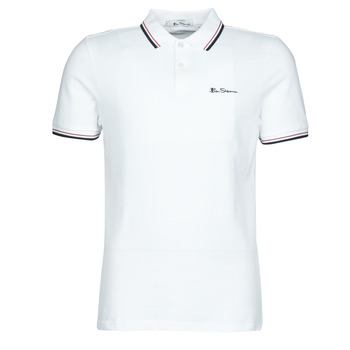material Men short-sleeved polo shirts Ben Sherman SIGNATURE POLO White / Black