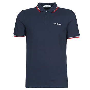 material Men short-sleeved polo shirts Ben Sherman SIGNATURE POLO Marine / Red / White