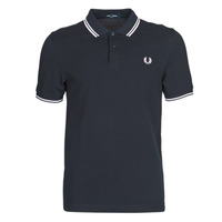 material Men short-sleeved polo shirts Fred Perry TWIN TIPPED FRED PERRY SHIRT Blue / White