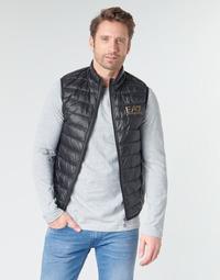material Men Duffel coats Emporio Armani EA7 CORE ID 8NPQ02 Black / Gold