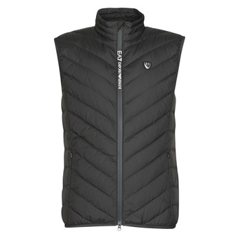 material Men Duffel coats Emporio Armani EA7 TRAIN CORE SHIELD M DOWN LIGHT VEST Black