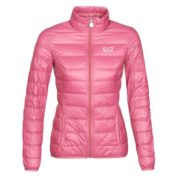 material Women Duffel coats Emporio Armani EA7 TRAIN CORE LADY W LT DOWN JACKET Pink