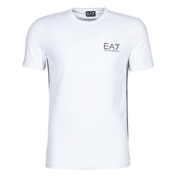 material Men short-sleeved t-shirts Emporio Armani EA7 TRAIN LOGO SERIES M TAPE TEE ST White