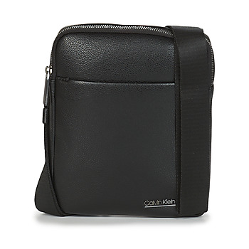 Bags Men Pouches / Clutches Calvin Klein Jeans CK BOMBE' FLAT CROSSOVER Black