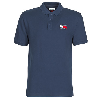 material Men short-sleeved polo shirts Tommy Jeans TOMMY BADGE POLO Marine