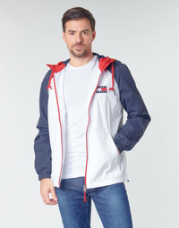 material Men Blouses Tommy Jeans TJM COLORBLOCK ZIPTHROUGH JCKT White / Blue / Red