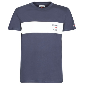material Men short-sleeved t-shirts Tommy Jeans TJM CHEST STROPE LOGO Marine