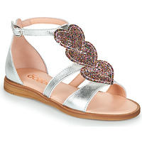 Shoes Girl Sandals Acebo's 5360-PLATA Silver / Pink