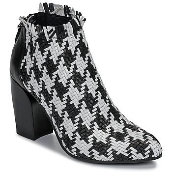 Shoes Women Low boots Mimmu  Black / White
