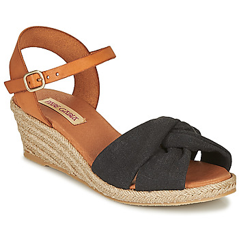 Shoes Women Sandals Pare Gabia BILMI Black / Brown