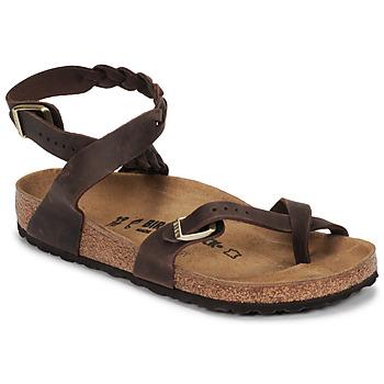 Shoes Women Sandals Birkenstock YARA LEATHER Brown