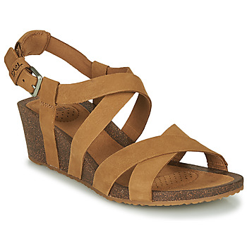 Shoes Women Sandals Teva MAHONIA WEDGE CROSS STRAP Brown