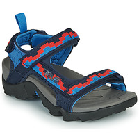 Shoes Girl Sandals Teva TANZA Blue / Red