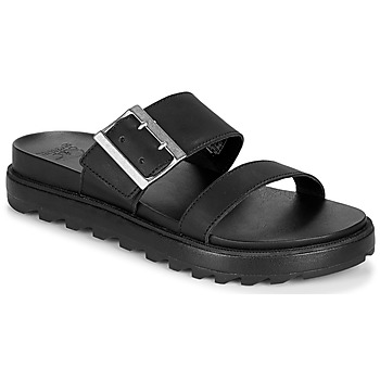 Shoes Women Sandals Sorel ROAMING BUCKLE SLIDE Black