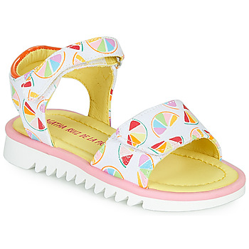 Shoes Girl Sandals Agatha Ruiz de la Prada SMILES White / Multicoloured