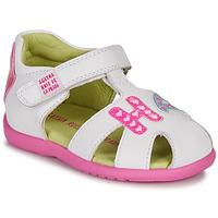 Shoes Girl Sandals Agatha Ruiz de la Prada HAPPY White / Pink