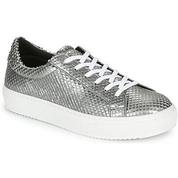 Shoes Women Low top trainers Ikks BQ80005 Silver