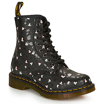 Shoes Women Mid boots Dr Martens 1460 HEARTS Black