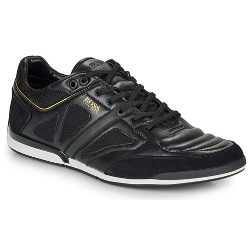 Shoes Men Low top trainers BOSS SATURN LOWP STRF Black / Gold