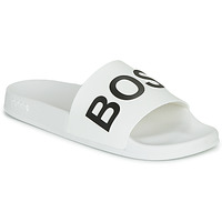 Shoes Men Sliders BOSS BAY SLID RBLG White / Black