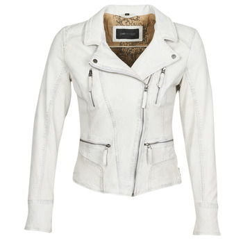 material Women Leather jackets / Imitation leather Oakwood CAMERA White