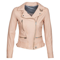 material Women Leather jackets / Imitation leather Oakwood VIDEO Nude / Beige / Pink
