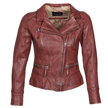 material Women Leather jackets / Imitation leather Oakwood CAMERA Red