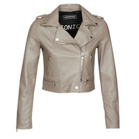 material Women Leather jackets / Imitation leather Oakwood YOKO Mastic / (taupe)