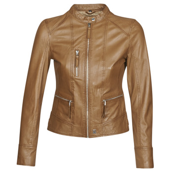 material Women Leather jackets / Imitation leather Oakwood EACH Cognac