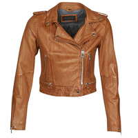 material Women Leather jackets / Imitation leather Oakwood KYOTO Cognac