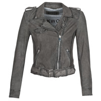 material Women Leather jackets / Imitation leather Oakwood PLEASE Grey