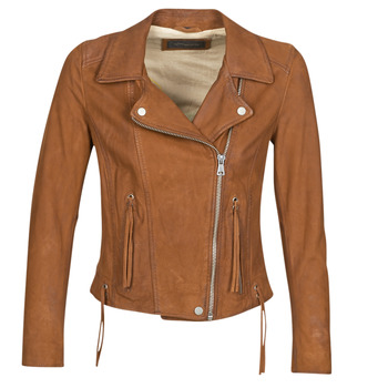 material Women Leather jackets / Imitation leather Oakwood ANGIE Brown